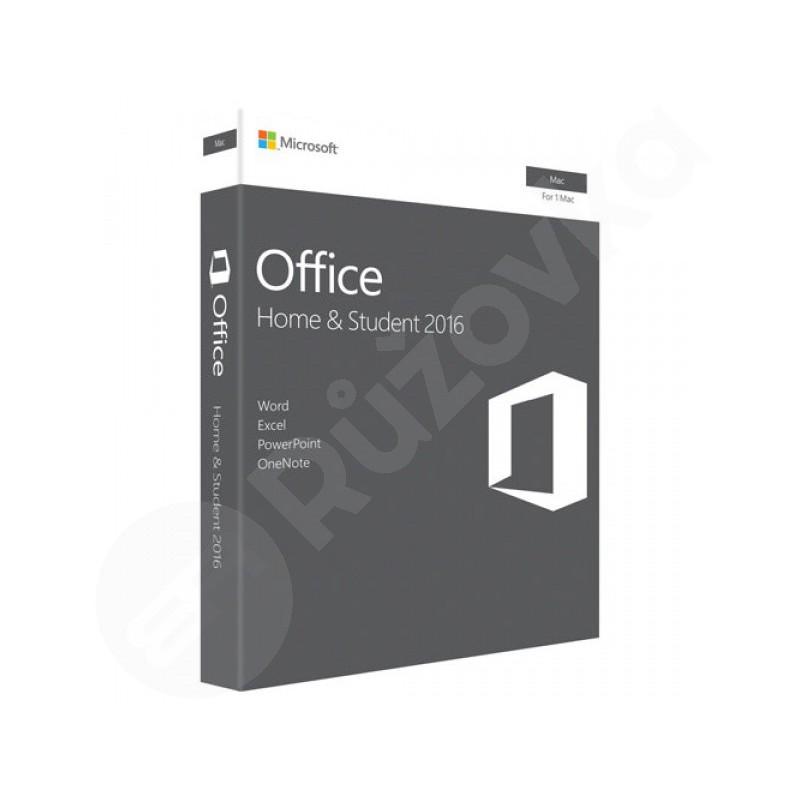 Microsoft Office 2016 Home & Student (pro domácnosti) MAC