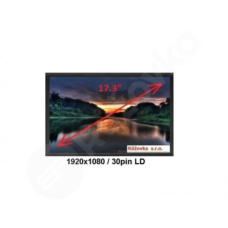 17.3'' LCD LED display 1920x1080 30-pin LD (eDP)
