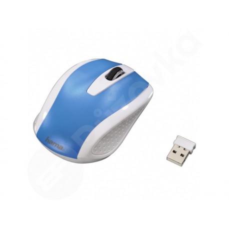 Bezdrátová optická myš Hama AM-7200, bílá/modrá