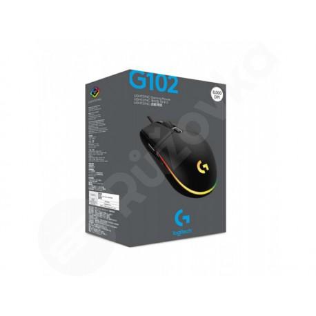 Logitech G102 Lightsync Gaming Mouse černá (910-005823)