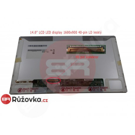 14.0'' LCD LED display 1600x900 40-pin LD lesklý
