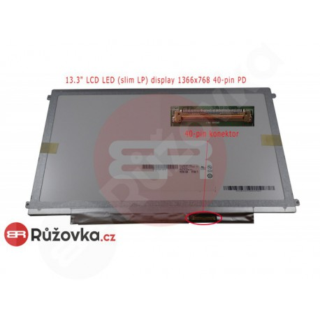 13.3'' LCD LED (slim LP) display 1366x768 40-pin PD