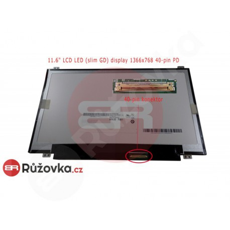 11.6'' LCD LED (slim GD) display 1366x768 40-pin PD