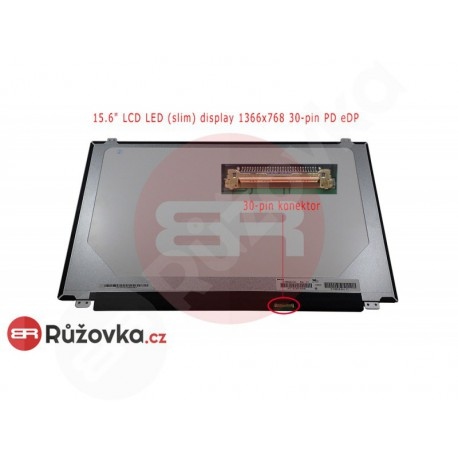 15.6'' LCD LED (slim) display 1366x768 30-pin PD eDP