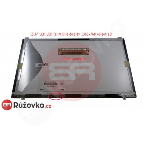 15.6'' LCD LED (slim DH) display 1366x768 40-pin LD matný