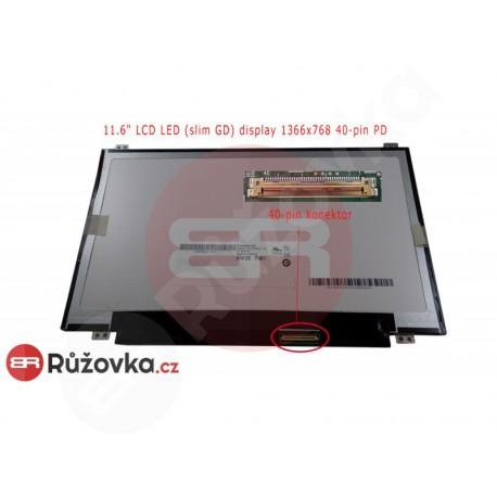 11.6'' LCD LED (slim GD) display 1366x768 40-pin PD