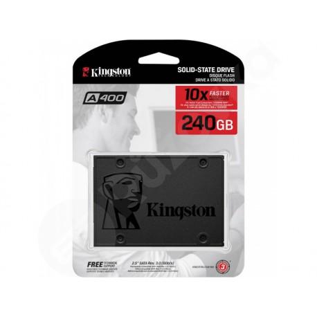 KINGSTON SSD 240GB A400 SATA3 6Gb/s čtení/zápis 500/350 MB/s